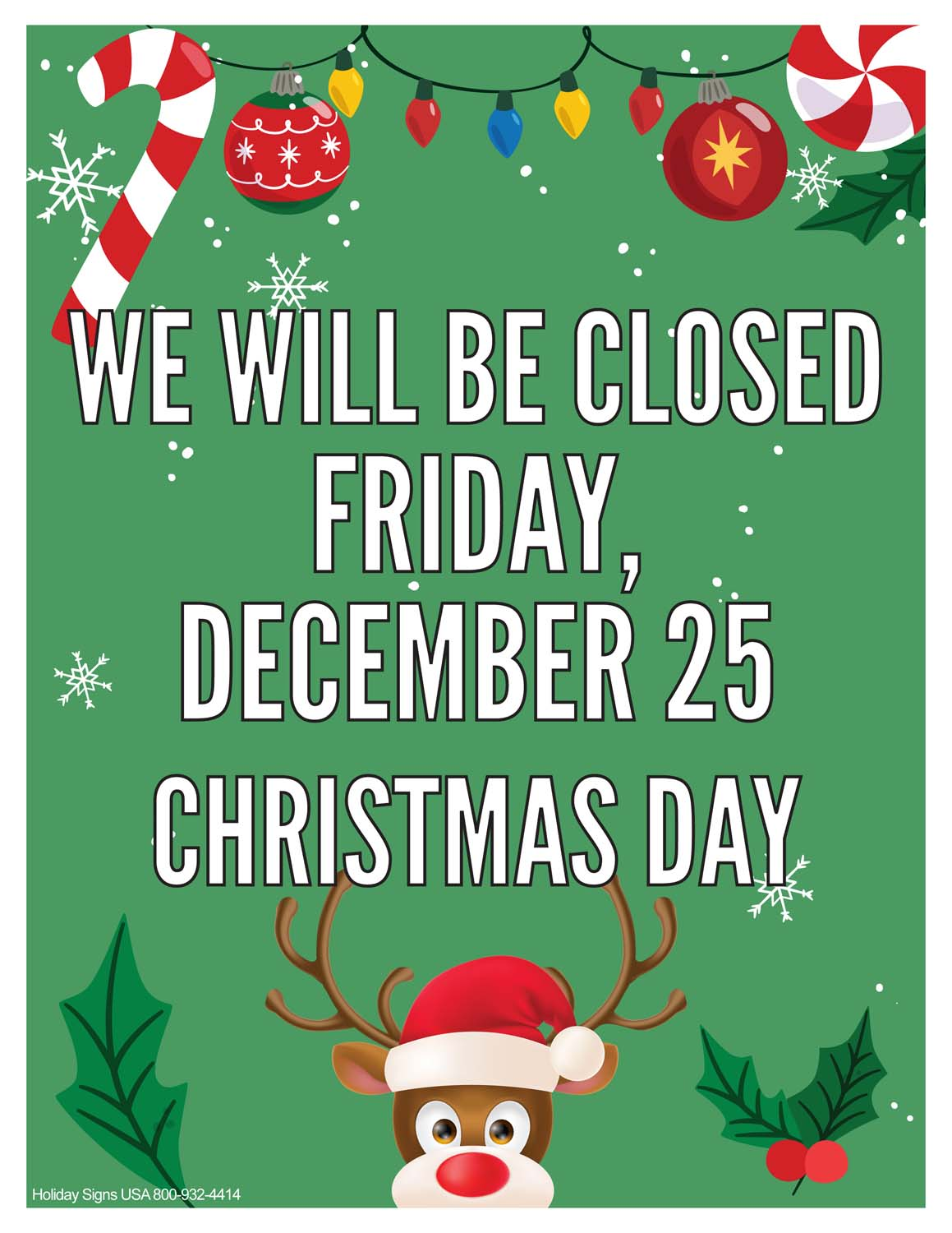 Closed For Christmas 2020 Pics Holiday Signs USA | business holiday closing signs