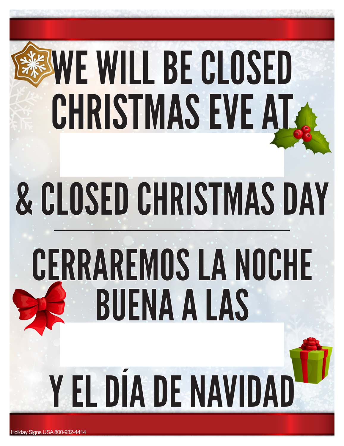 It's just a photo of Nerdy Free Printable Holiday Closed Signs for Businesses