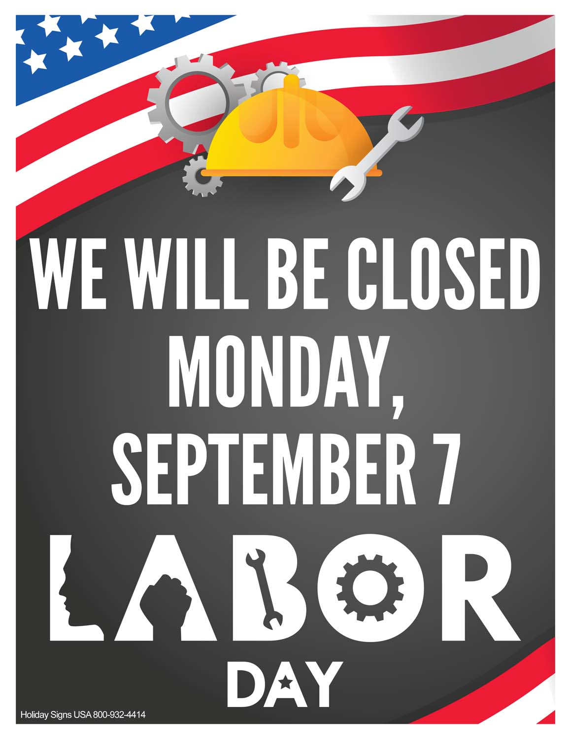 Holiday Signs USA | business holiday closing signs